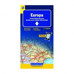 Carte routière Europe